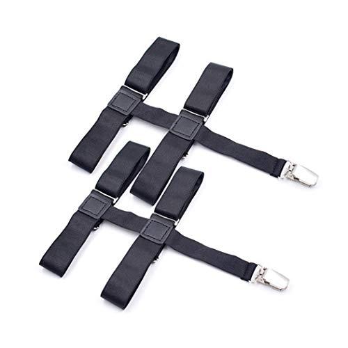 Aneliya Women's Leg Elastic Thigh High Garter Belt Adjustable Suspender with Metal Clips