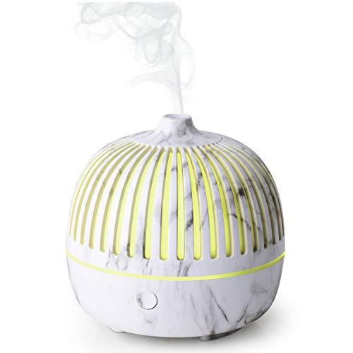 WD&CD Aroma Diffuser Luftbefeuchter 180ml, Ultraschall Vernebler Duftlampe Öle Diffusor mit 7 Farben LED Wasserlose Abschaltautomatik - Weiß
