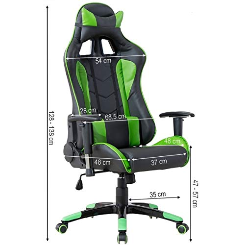 Delman Gaming Stuhl Bürostuhl Racing Bild 6*