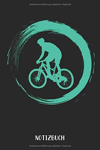 Notizbuch: Mountainbike Notizbuch | 75 leere linierte Seiten| Geschenk für Mountainbiker| 6x9 Format (15,24 x 22,86 cm)