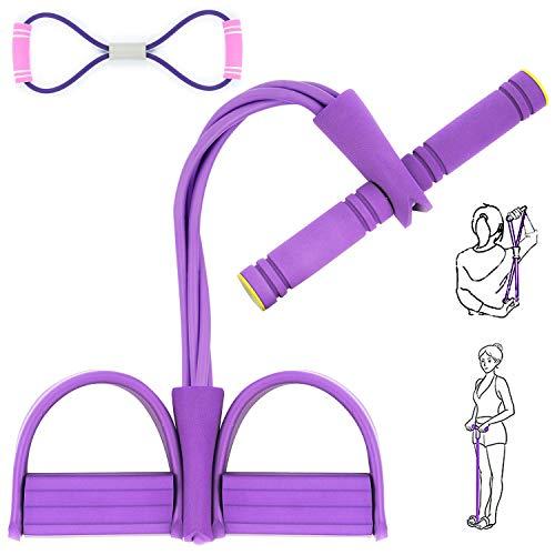 AJOXEL Estensore Fitness Polivalente Sit Up Pull Rope Pedale Addominali Corda Elastica Leg Exerciser Attrezzatura Palestra Resistenza Allenamento Esercizio Muscoli Addome Stomaco Braccia Gambe