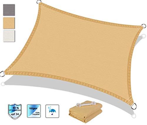 Markisen-Sonnenschutzsegel 2x7,5 m, Sonnensegel, Sonnenschutz-UV-Schutz, Anthrazit Für Gartenterrassen