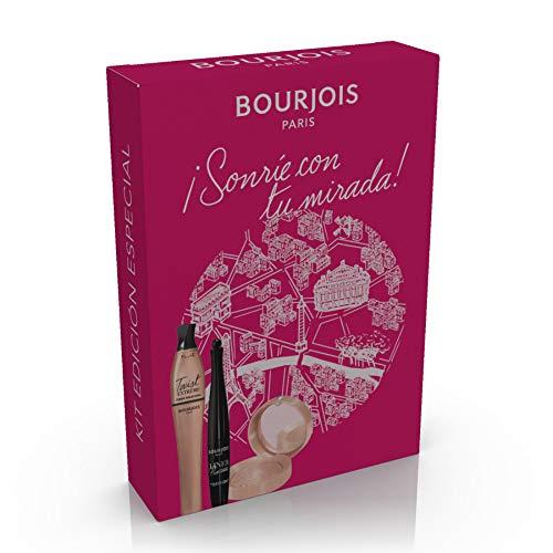 Bourjois ¡Sonríe Con Tu Mirada! - Kit (Twist Up Extrême Fiber Máscara de pestañas, Liner Pinceau Delineador de ojos y Little Round Pot Sombra de ojos) 130 g