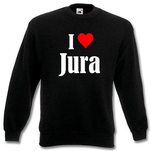 Reifen-Markt Sweatshirt Damen I Love Jura Größe 2XL Farbe Schwarz Druck Weiss