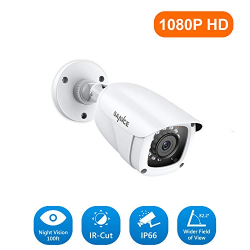 SANNCE 1080P HD 1920TVL CCTV Surveillance Weatherproof Bullet Security Camera 12PCS Infrared LEDs, 100ft IR Distance, for HD-TVI Analog DVR