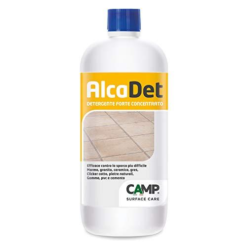 Camp ALCADET, Detergente forte concentrato per pavimenti in gres, cotto, marmo e ceramiche, Elimina sporco, aloni e macchie