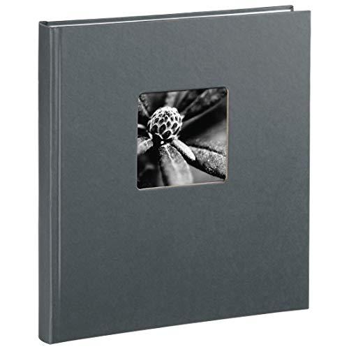 Hama Fotoalbum 'Fine Art' 29 x 32 cm, 50 Seiten (25 Blatt), mit Ausschnitt für Bildeinschub, grau
