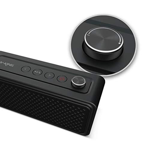 MESST CSR 4.1 Bluetooth Altavoz, subwoofer estéreo Bluetooth Audio, Altavoz de Escritorio, Soporte de Llamadas Manos Libres, Adecuado para conectar el teléfono móvil Bluetooth,Black