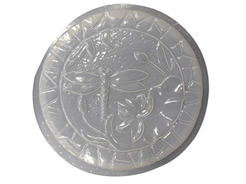 Round Dragonfly Stepping Stone Concrete or Plaster Mold 1106