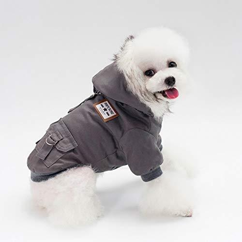 smalllee_lucky_store Hundejacke mit Kapuze und Fleece-Futter, für Kleine Hunde