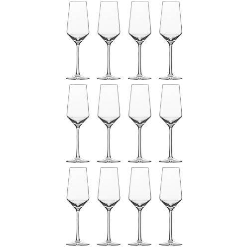 Schott Zwiesel 112418 Pure Champagnerglas/Champagnerkelch, 297ml, H 23,4cm, klar (12 Stück)