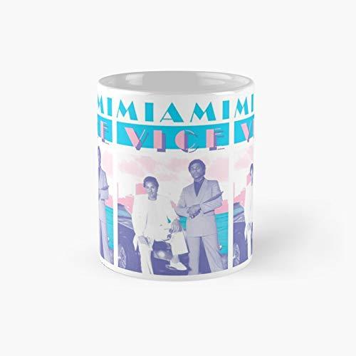 Taza clásica de Miami Vice | Mejor regalo divertido tazas de café 12 oz