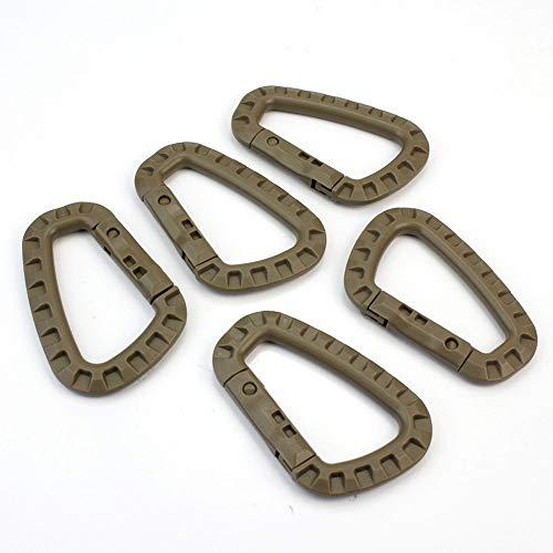 5X Boucles de Mousqueton en Forme de D en Plastique pour la Bouteille Porte-clés de Camping en Plein air, utiles et Pratiques Li-ly