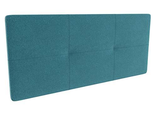 LA WEB DEL COLCHON - Cabecero tapizado Andrea para Cama de 150 (160 x 70 cms) Turquesa Textil Suave