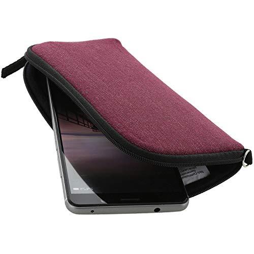 XiRRiX Handyhülle mit Handschlaufe 7.2 - universal Größe 4XL passend für Huawei Honor 8X 9X / LG K50s / Oneplus 8 Pro 7t / Samsung Galaxy A20s A21s A70 A71 / Note 10 Lite - Handytasche Berry