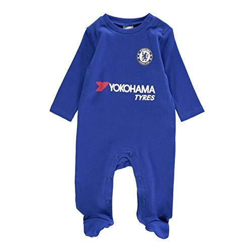 Team Jungen Fußball Baby Strampler Schlafanzug Langarm Chelsea 9-12 Monate