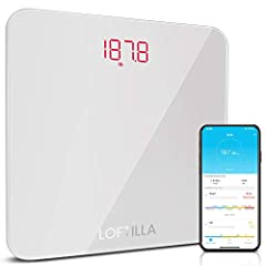 Digital Body Weight Scale – Connect and Sync with smartphone Loftilla Plus App via Bluetooth to track your weight and BMI trends easily. Support popular fitness Apps like Fitbit, Apple Health and Google Fit, step on the balance scale and get your wei...