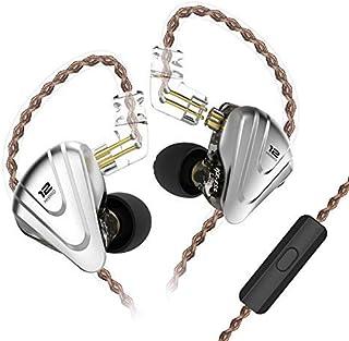 KZ ZSX 5BA + 1DD Híbrido en la Oreja Auricular 6 Unidad de Controlador HiFi Auriculares Monitor Running Sports Auriculares (Negro con micrófono)