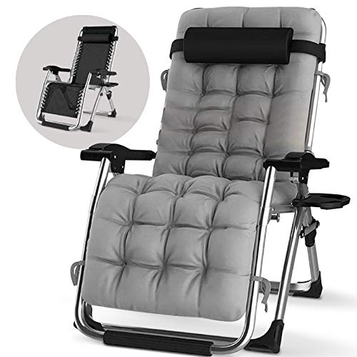 Coco Cape Zero Gravity Chair – Premium Chair with Cushion, Headrest and Cup Holder – Foldable and Easy to Carry – Heavy Duty Lightweight Materials – Ideal Outdoor Recliner, Beach Chair, Garden