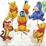 Disney Winnie The Pooh Dessert Muffin Cupcake Toppers for Wedding Baby Shower Birthday Party (Pack of 24)