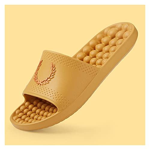 zapatillas Zapatillas para hombres y mujeres, sandalias y zapatillas, masaje de baño de verano, baño con fugas, secado rápido, hogar, interior, abajo suave, pareja antideslizante, sensación de paso