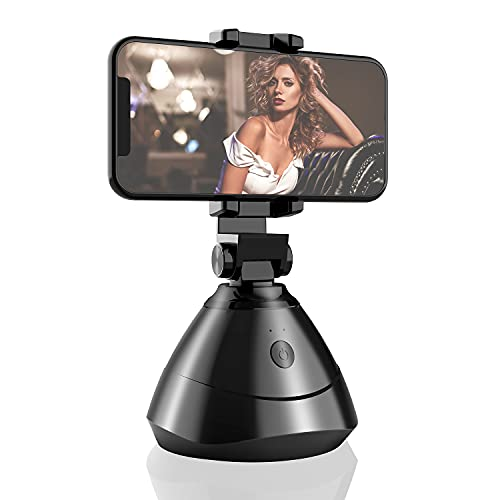 Handy Stabilisator, 360° Face Tracking Halter für Live-Streaming Auto Tracking Selfie Stick Halter Smart Tracking Telefonhalter für Facebook Live, Video Chat Face Time Call (Original)
