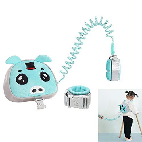 Corde de traction anti-perte pour enfants avec sac à dos, dragonne de sécurité pour enfants, corde de traction rotative élastique flexible à 360 °, dragonne pour enfant réglable, corde de traction p