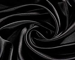 """Gorgeous Black Silky Satin Material Sold Per Metre - If More Than One Metre Sold The Order Will Be Sent Out One Continuous Length Perfect For Fancy Dress, Dress Making, Crafting And Decorations. WIDTH: 60"""" / 150cms"""