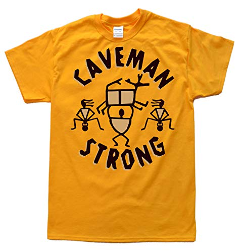 Caveman Strong Doré T-Shirt, Taille 2XL