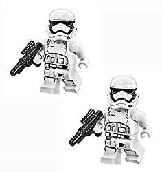 top 10 rarest lego minifigure LEGO Star Wars Force Awakens Minifigure – A Set of Two Tier 1 Stormtroopers with Blaster Cannons