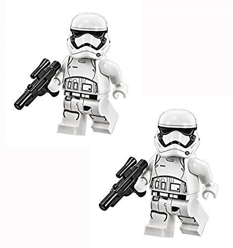LEGO Star Wars The Force Awakens - Confezione da 2 pezzi di First Order Stormtrooper con Blaster Guns