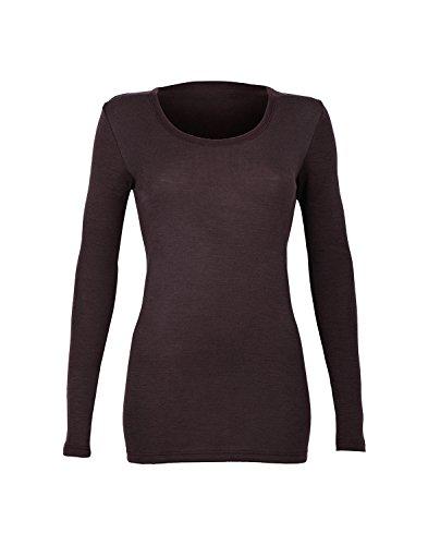 Dilling Langarmshirt für Damen - aus 100% Bio-Merinowolle Dunkellila 36