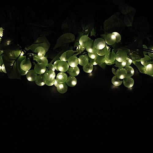 Lichterketten 8 Bunches/80 LED Solar Lichterkette Im Freien Grün Lila Trauben mit Vine Wasserdicht Lichterketten Garten Dekoration