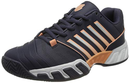 K-Swiss Performance Bigshot Light 4, Zapatos de Tenis Mujer, Graystone/Peach Nectar/White, 37 EU