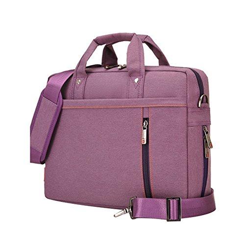 LOSORN ZPY Hohe Kapazität Laptop-Tasche Umhängetasche Messenger Bag Handtasche mit Schultergurt Aktentasche für iPad Pro/MacBook Air/MacBook/Notebook Computer Lila 17 Zoll