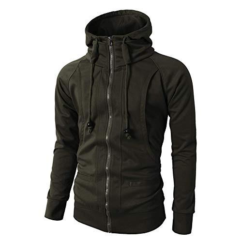 Morbuy Homme Cardigan Outerwear Sweat-Shirt à Capuche Veste Cardigan Longue Zippée Manches Longue Manteau Long Slim Fit