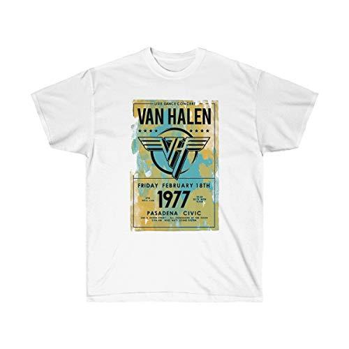 Unisex Official Van Halen Tour Pasadena 1977 T-shirt, S to XXL