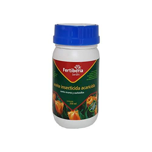 Aceite Insecticida Acaricida contra Ácaros, Cochinillas y Araña Roja en Cítricos, Arbustos Ornamentales, Frutales de Hueso y Pepita y Plataneras en Jardinería Exterior Doméstica 250 ml
