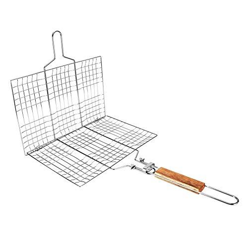 Barbacoa de rejilla de malla de alambre de barbacoa barbacoa parrilla pescado clip al aire libre herramienta de camping
