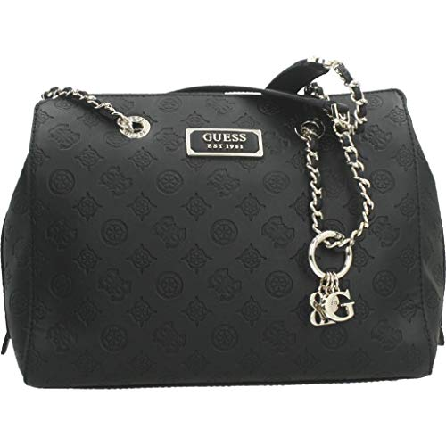 Guess LOGO LOVE GIRLFRIEND SATCHEL BLACK