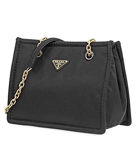 Prada Medium Nylon Tote Bag in Black