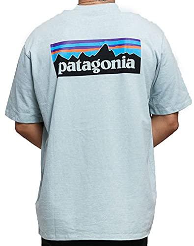【パタゴニア】 パタゴニア M's P-6 Logo Responsibili-Tee 38504 【並行輸入品】 (Big Sky Blue, XL)