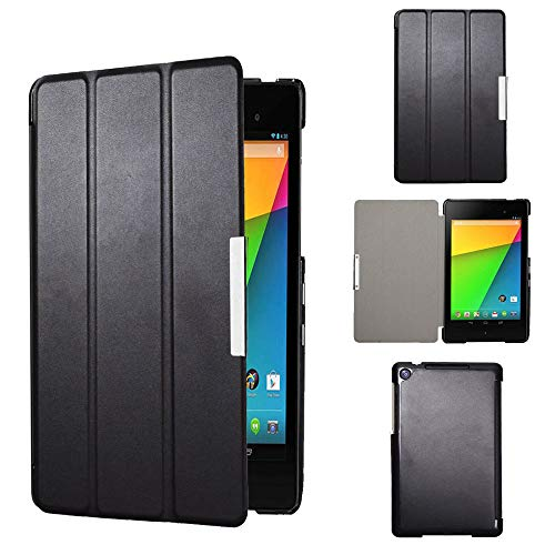 Kuesn Google Nexus 7 2nd (2nd.2013 Model) pu Leather Pouch with Stand - Fit for 2013 Release Nexus 7 Tablet (Black)