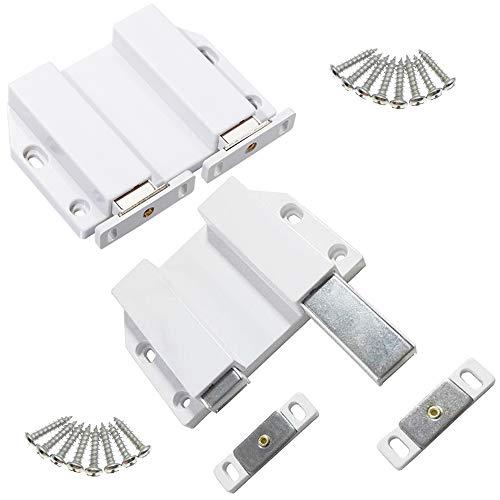 Su larga scala doppia chiusura magnetica touch pressione doppio double Push per porte armadio da cucina e ante Armadio vetrina armadio porta (2 pezzi)