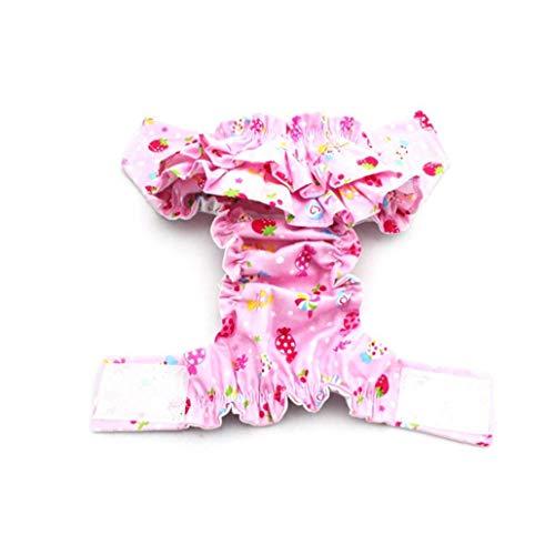 mi ji Perro Mascota Hembra Pañal Pantalones Fisiológicos Reutilizable Sanitaria Pantalones Cortos Bragas Menstruación Pantalones Color Al Azar S