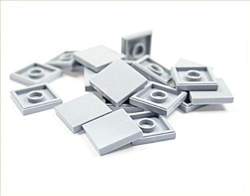 LEGO Bricks 3068 City Fliesen, 2x2Zapfen, 20Stück, Hellgrau