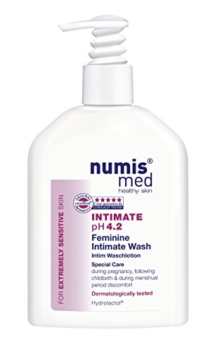 Intimate Hygiene Cleanser Imported From Germany pH 4.2 Dermatologist Tested - Soap Free Paraben Free Vegan Clinically Tested For Extremely Sensitive Skin 200 ml by Numis Med Sensitive