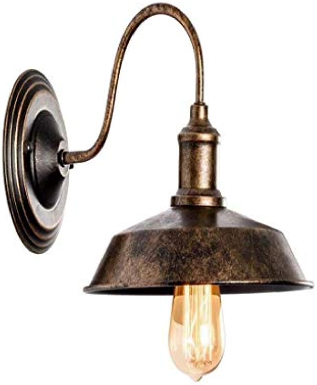 HBLJ Vintage Chandeliersocket rustikale Wandlampen Draht Metall Wandleuchte Indoor Home Retro Lights Fixture (einzelne Lampensockel mit l eingerieben Bronze)