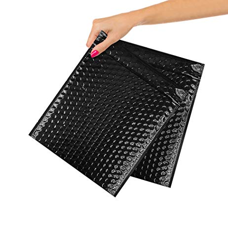 ABC Pack of 10 Metallic Black Bubble Mailers 8x11. Black Padded Envelopes 8 x 11. Bubble Peel and Seal Mailers. Padded Shipping Bags for Shipping, Packing, Packaging. Wholesale Price