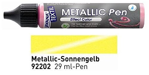 Javana Textil Metallic Pen Effect Color Sonnengelb 29ml VE=1St.